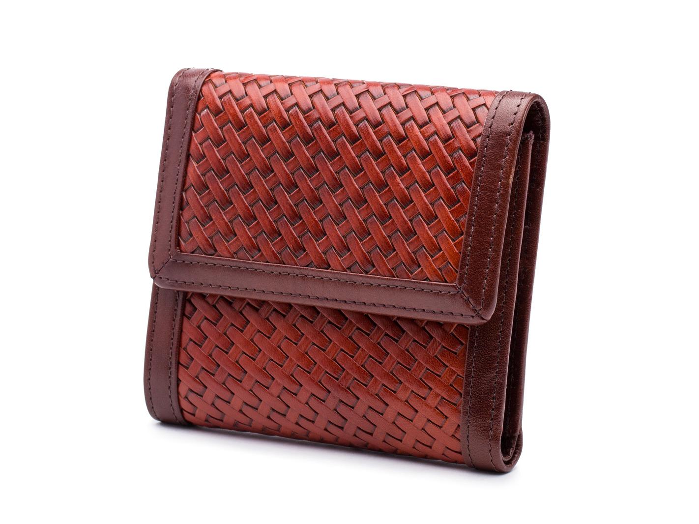 Basket Style Small Wallet-214 Dark Auburn - 214 Dark Auburn