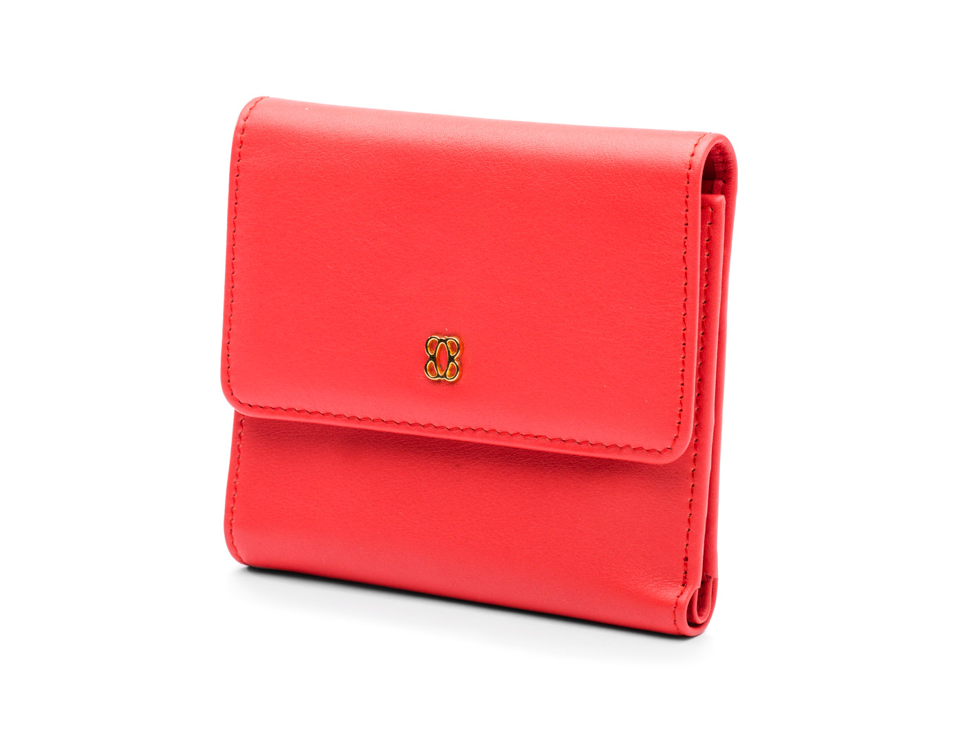 Coral Small Wallet-611 Coral - 611 Coral