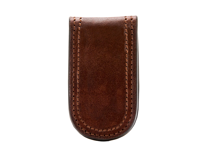 Money Clip-218 Dark Brown - 218 Dark Brown