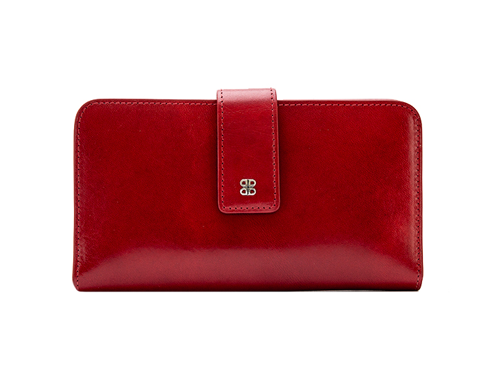 Checkbook Clutch-24 Brick Red - 24 Brick Red