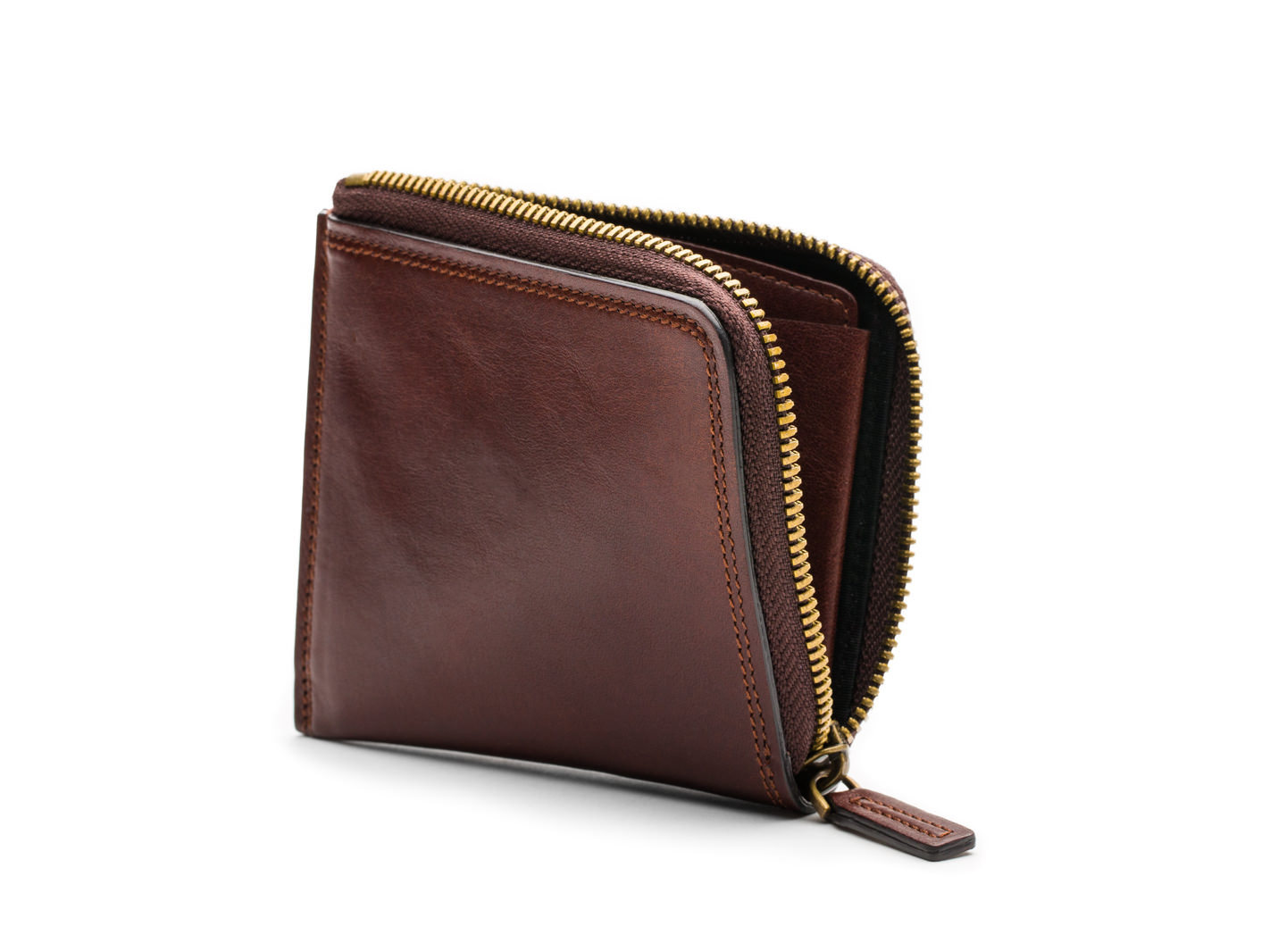 Euro Zip Wallet-218 Dark Brown - 218 Dark Brown
