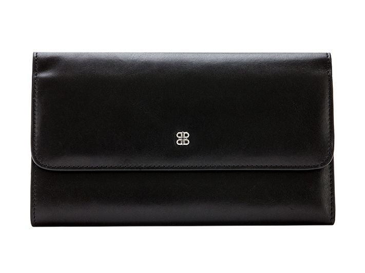 Large Checkbook Clutch-59 Black - 59 Black
