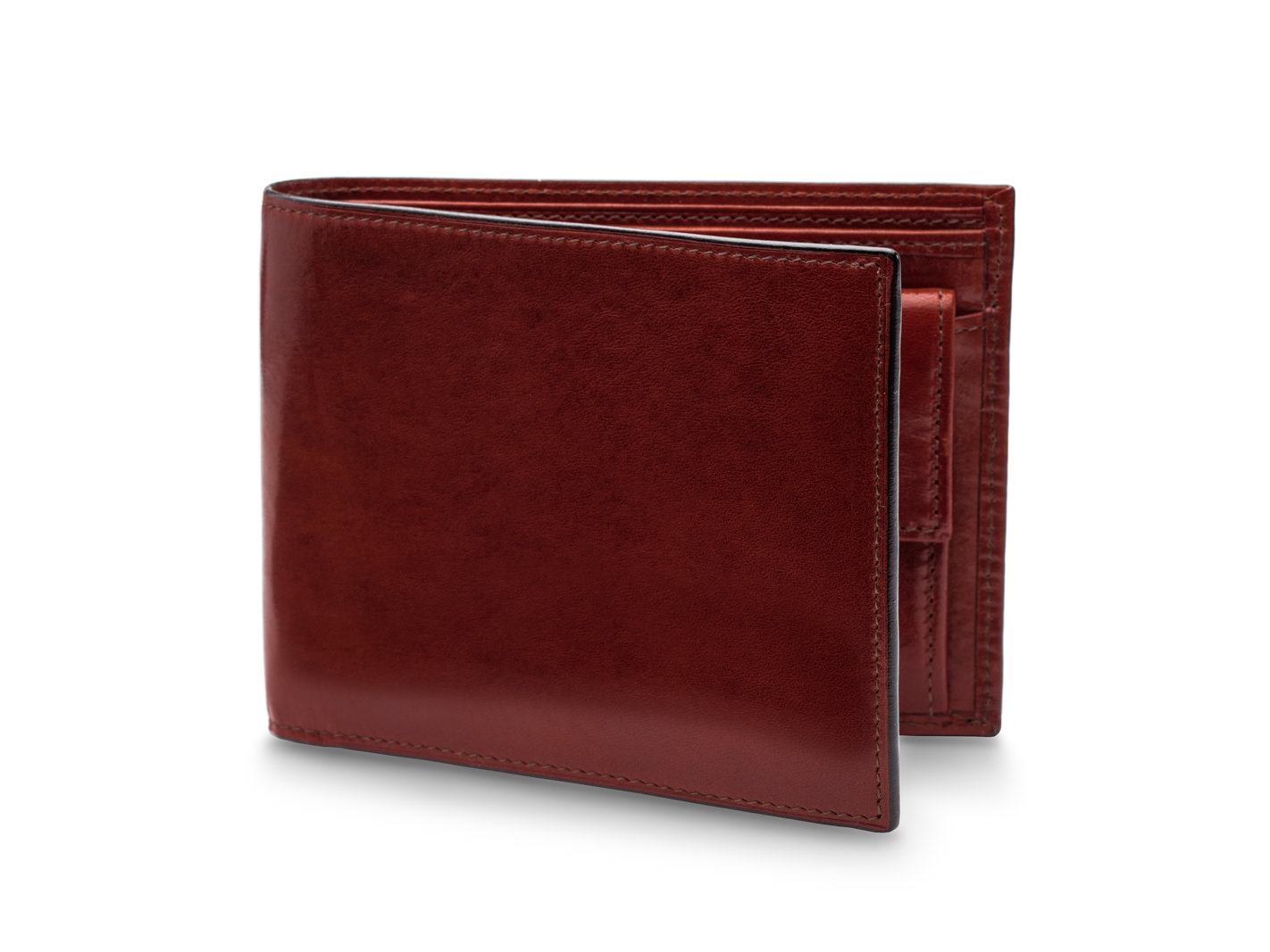 RFID Euro-Size Wallet w/Coin Pocket-58 Dark Brown - 58 Dark Brown