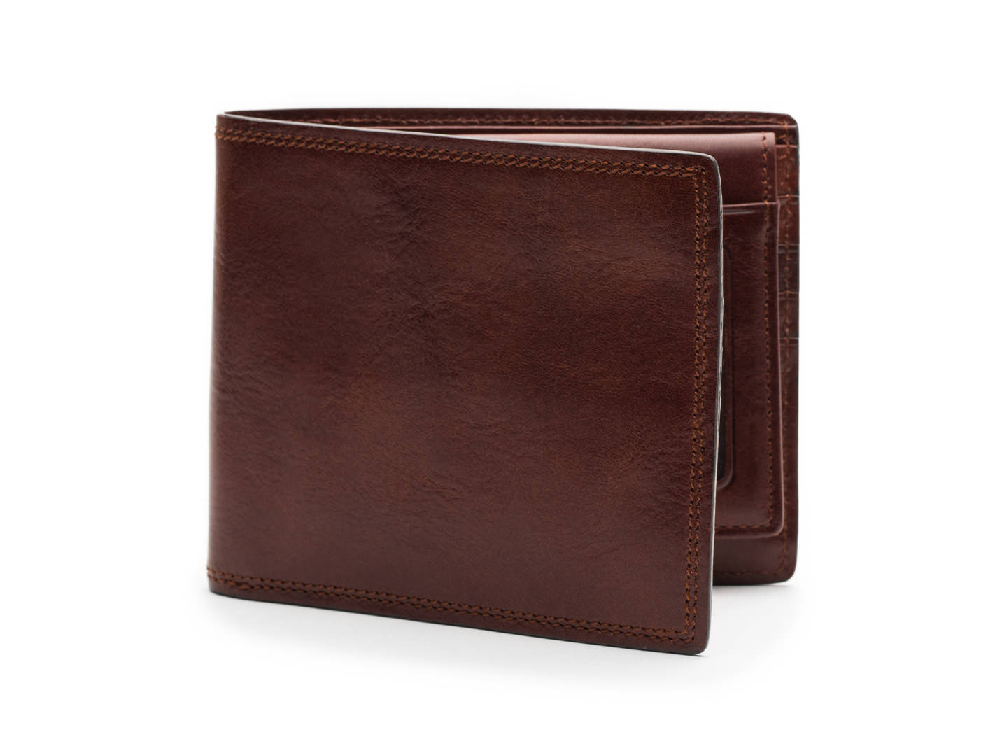 Euro Credit Wallet w/I.D. Passcase-218 Dark Brown - 218 Dark Brown
