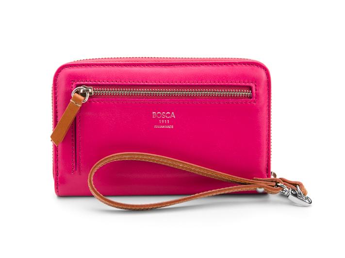 Jewel Tone Zip Wallet-183 Pink Sapphire - 183 Pink Sapphire