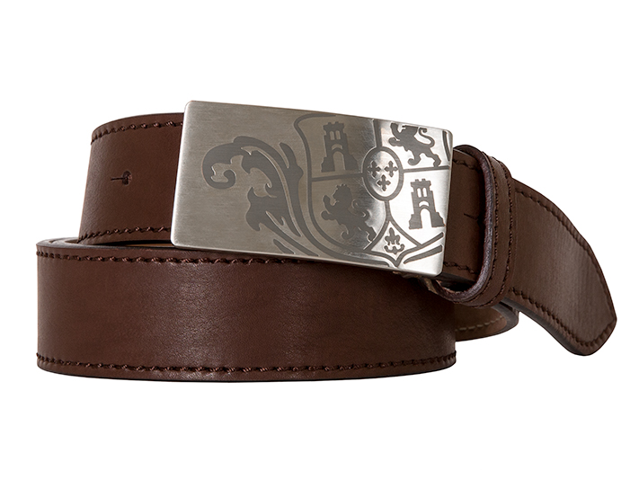Bosca Crest Belt Buckle-206 Brown-34 - 206 Brown