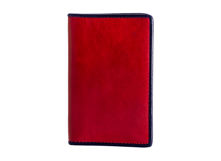 Calling Card Case-143 Red/Navy