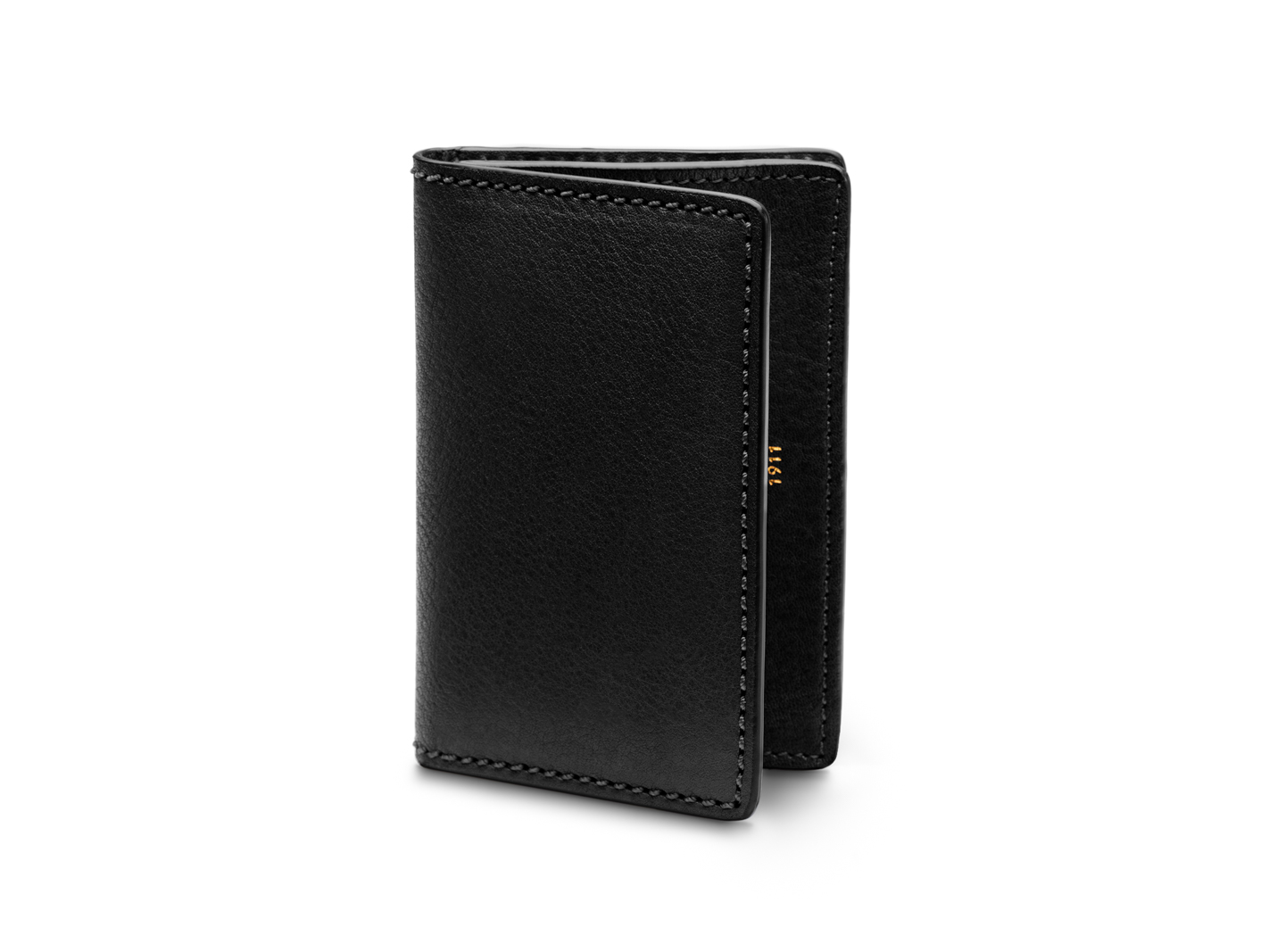 Full Gusset, 2 Pkt Card Case w/I.D.-159 Black - 159 Black