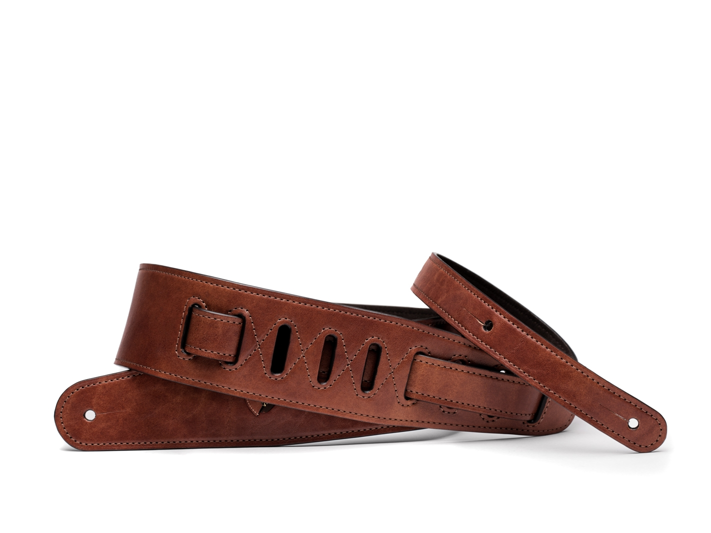 Guitar Strap with Pick Pocket-218 Dark Brown - 218 Dark Brown