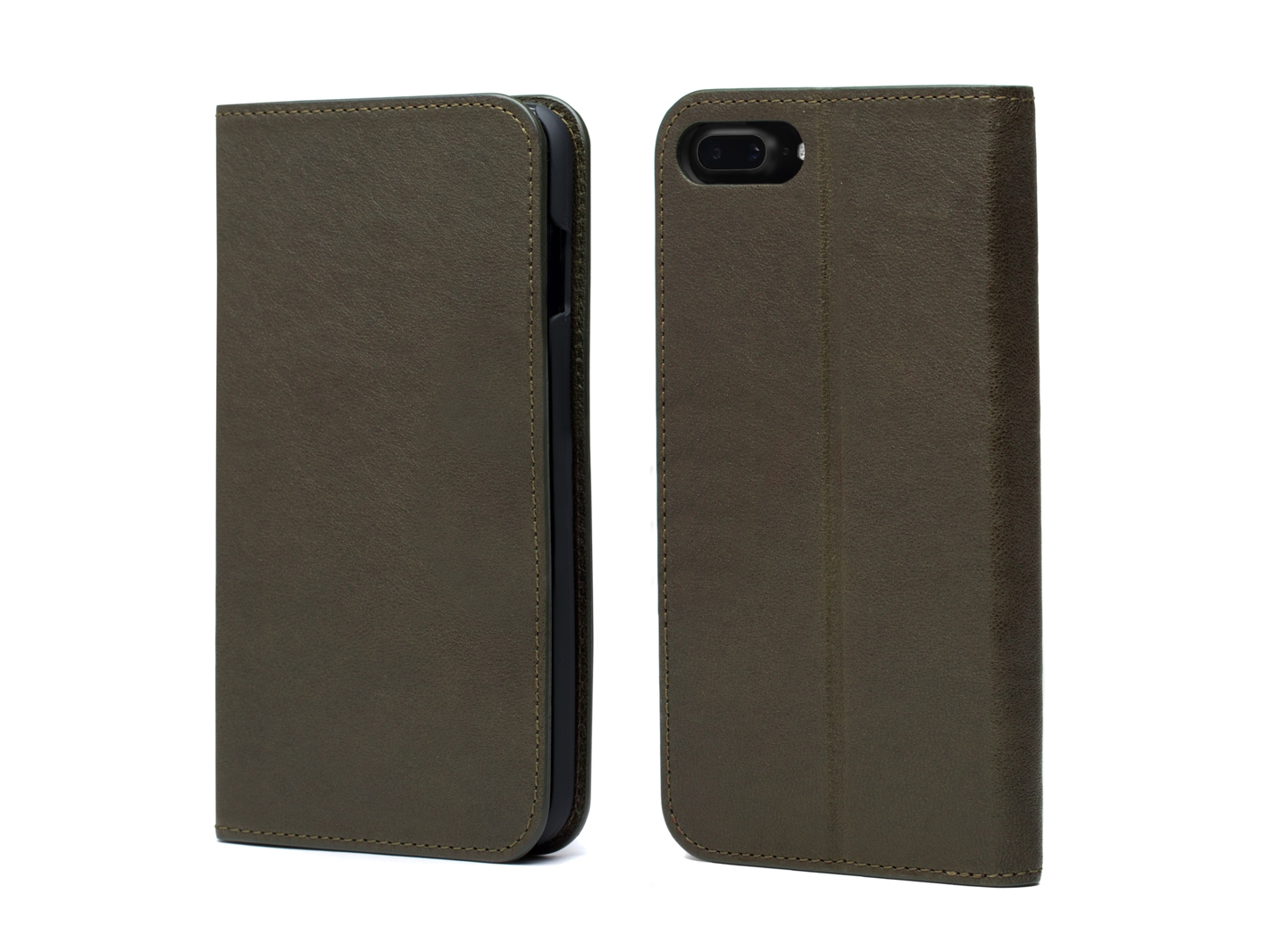 iPhone 8 Flip Case with Cards Inside-152 Dark Green - 152 Dark Green