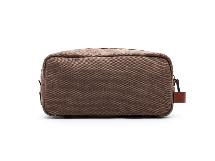 Fabric & Washed Leather Shave Kit-358 Grey & Brown - 358 Grey & Brown