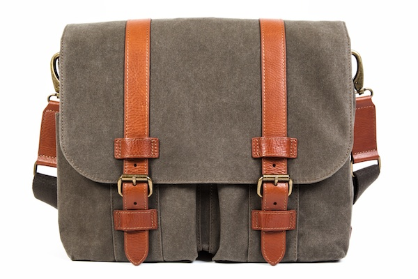 2 Pocket Mail Bag-394 Chestnut / Olive