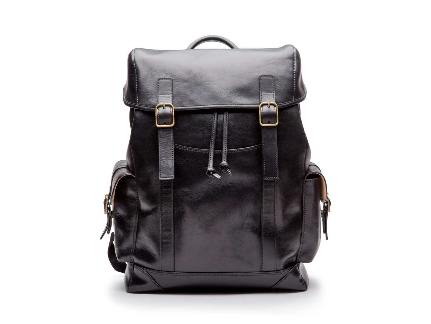 Pathfinder All Leather Backpack-219 Black - 219 Black