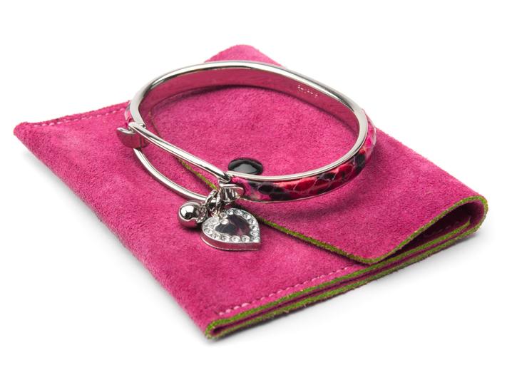 SNAKESKIN PALLADIUM BRACELET-117 Pink - 117 Pink