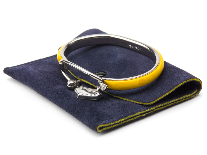OSTRICH PALLADIUM BRACELET-119 Yellow - 304