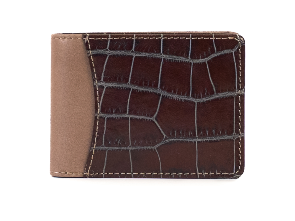 Small Pocket Wallet -188 Gray/Brown