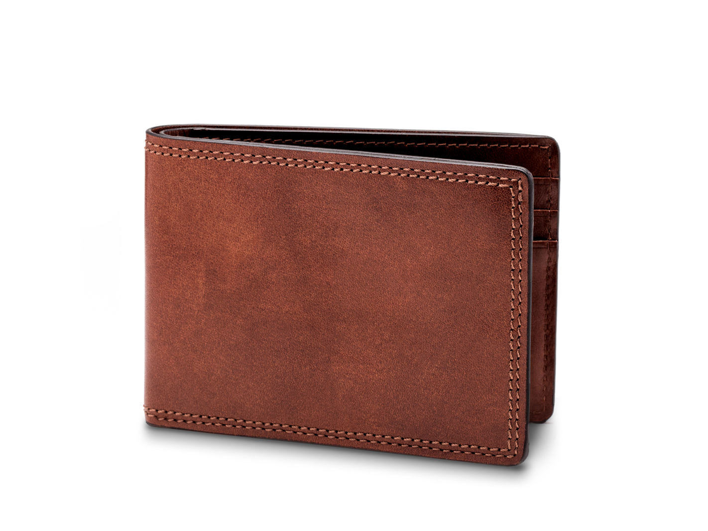 Small Bifold Wallet-218 Dark Brown - 218 Dark Brown