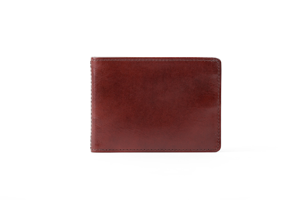 Small Bifold Wallet - Dark Brown - Back Closed