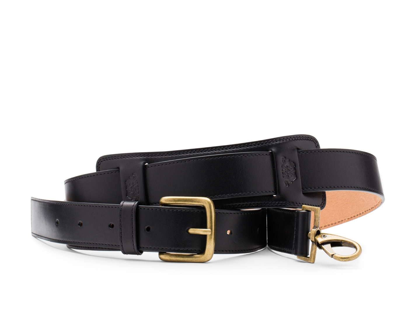 Deluxe All Leather Shoulder Strap-219 Black - 219 Black