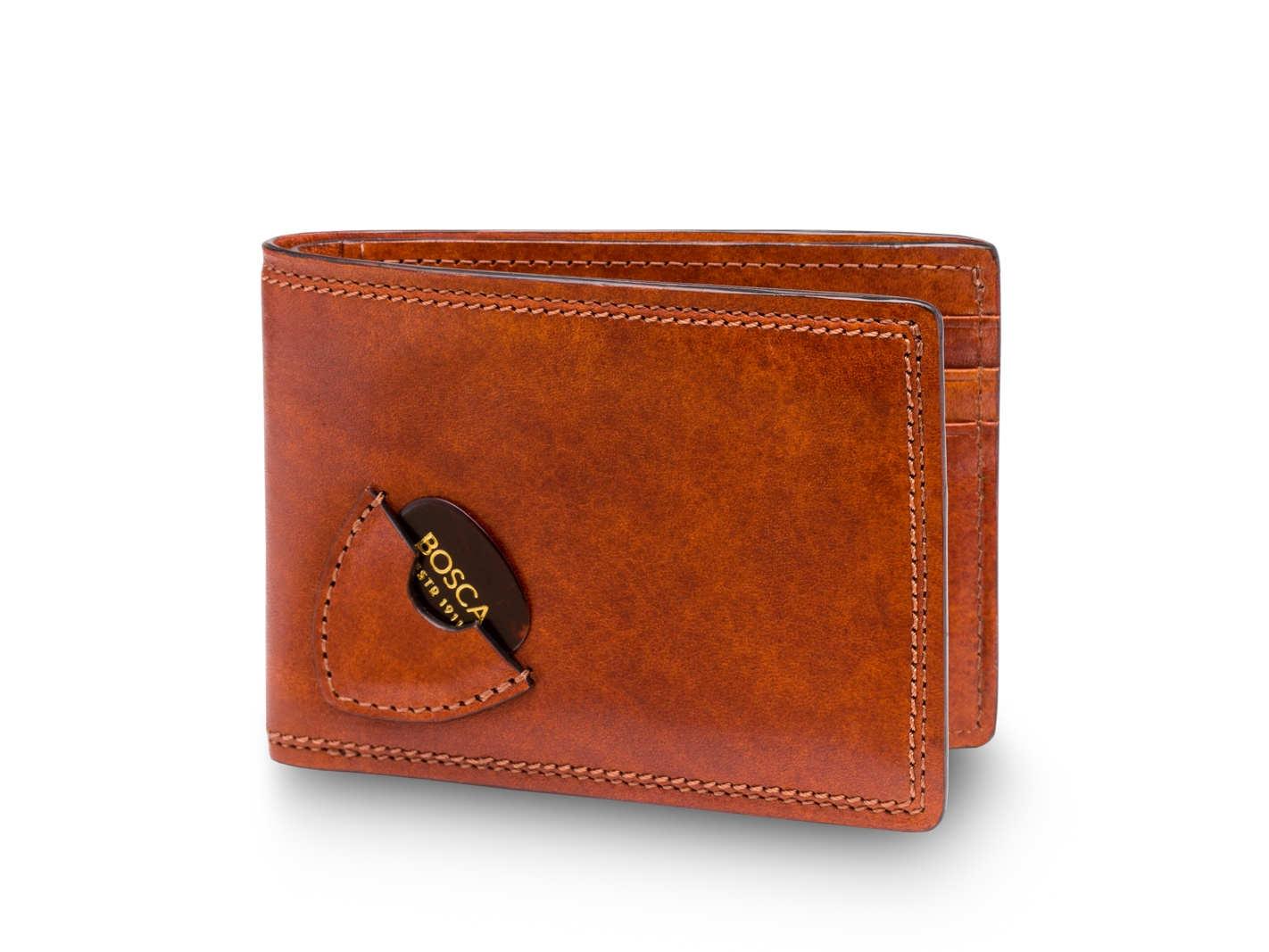 Small Bifold Wallet with Guitar Pick Pocket-217 Amber - 217 Amber