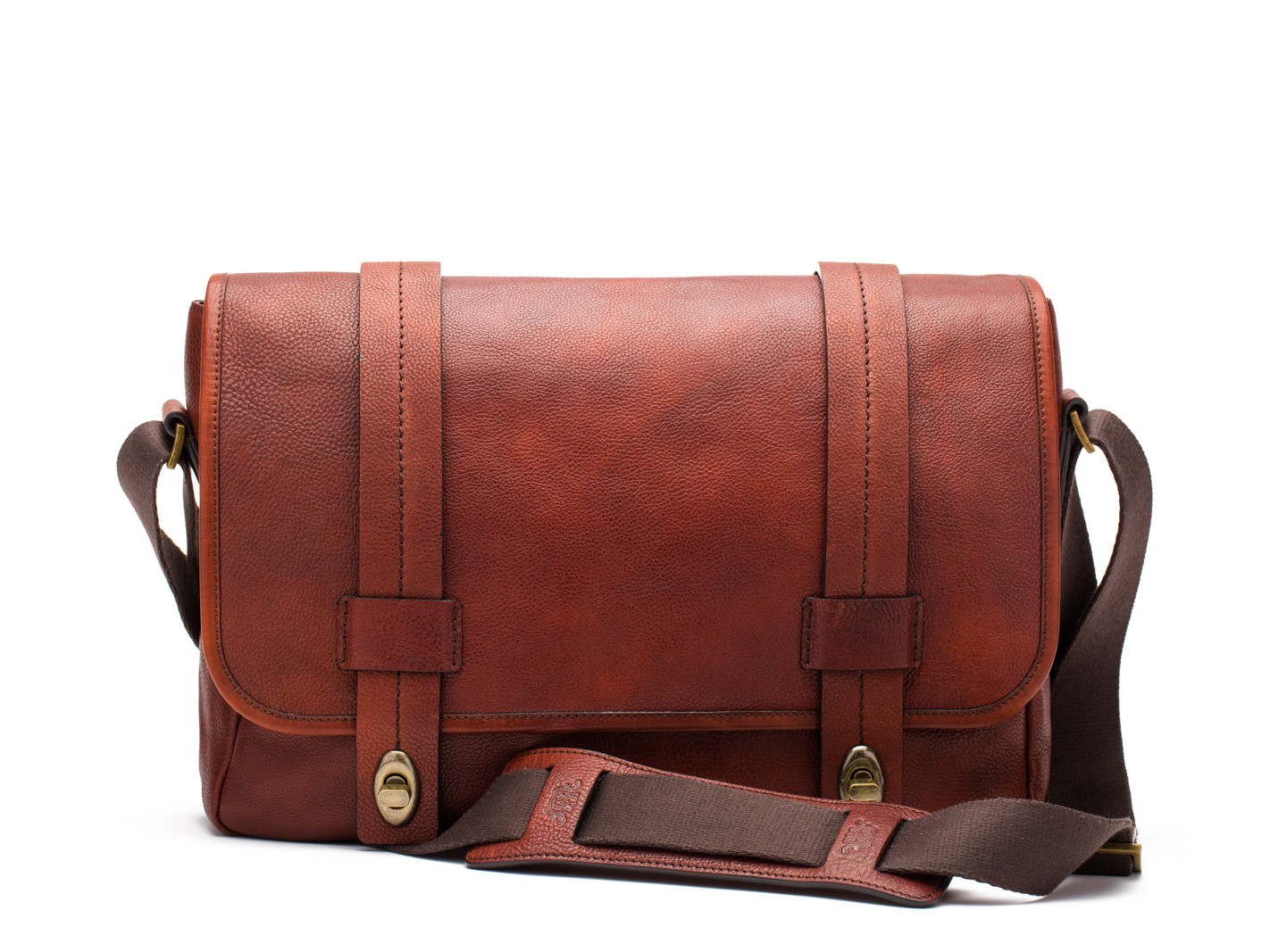Washed Messenger-158 Dark Brown - 158 Dark Brown