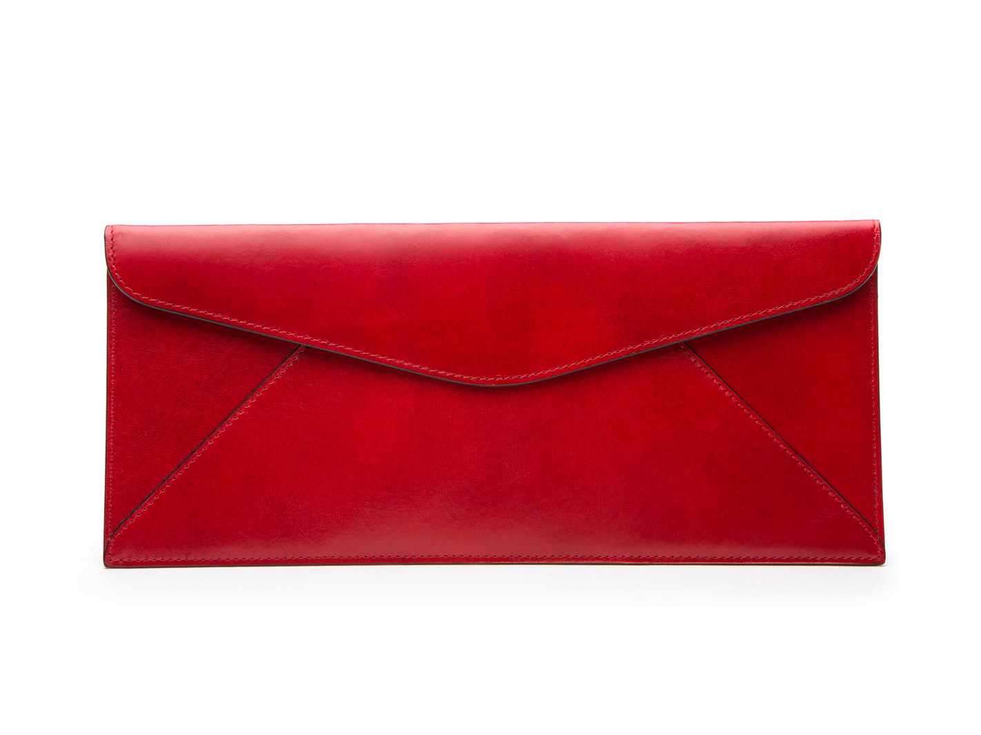 Leather Envelope-24 Brick Red - 24 Brick Red