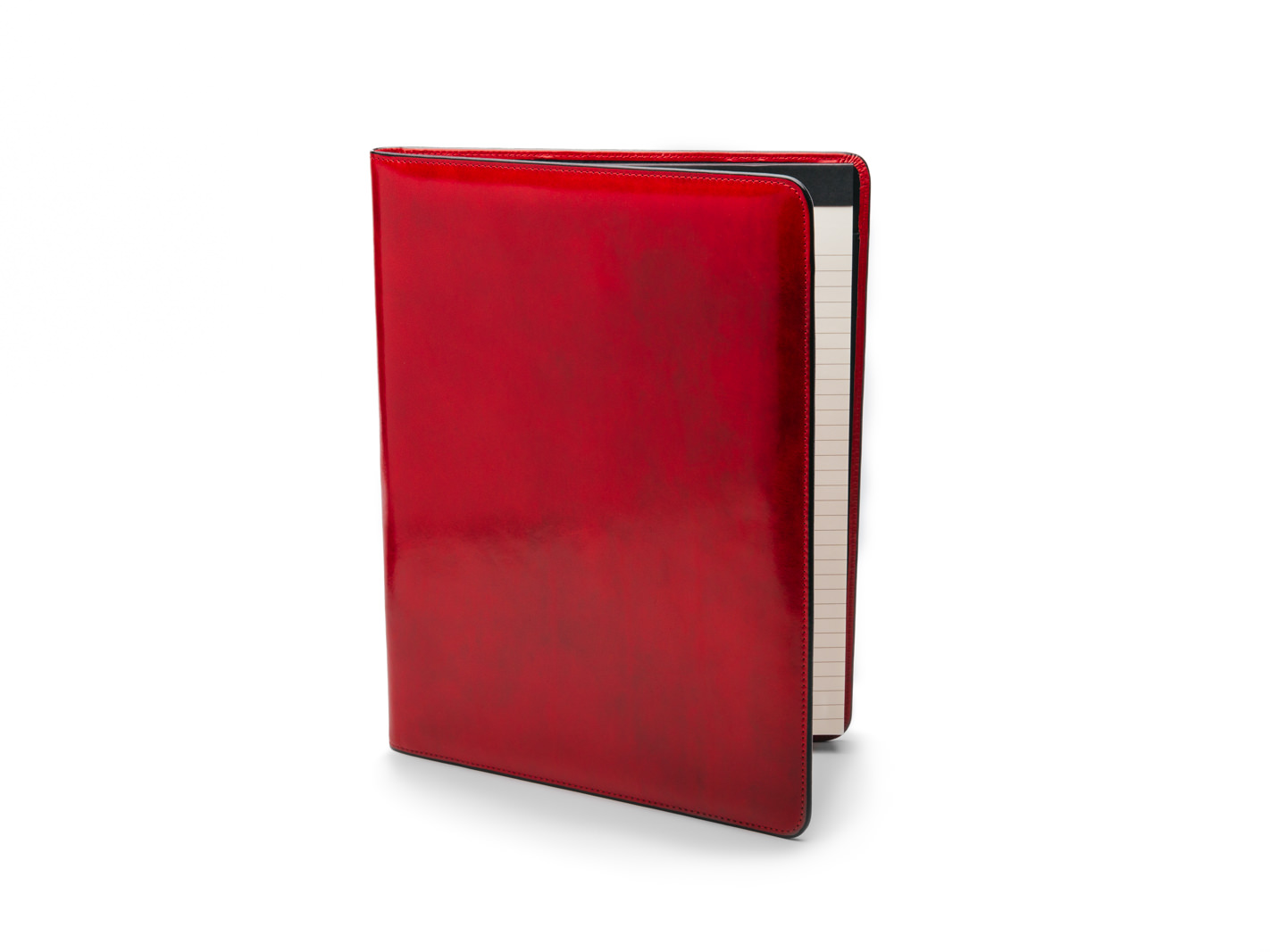 8 1/2 X 11 Writing Pad Cover - Brick Red - Front Closed