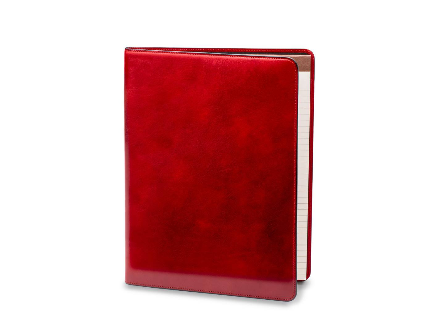 Leather Portfolio - 24 Brick Red