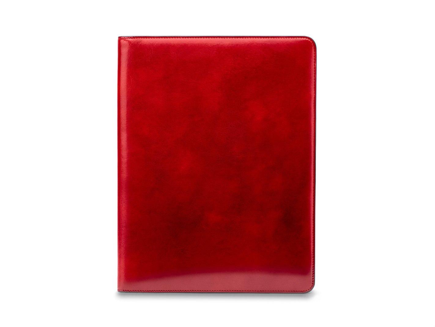 Leather Portfolio - 24 Brick Red