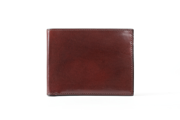 Bifold With Card / I.D. Flap - Dark Brown - Full Open View