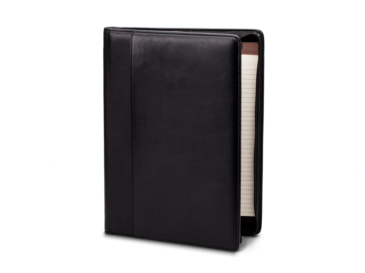 Deluxe Zip Around Portfolio Organizer - 100 Black