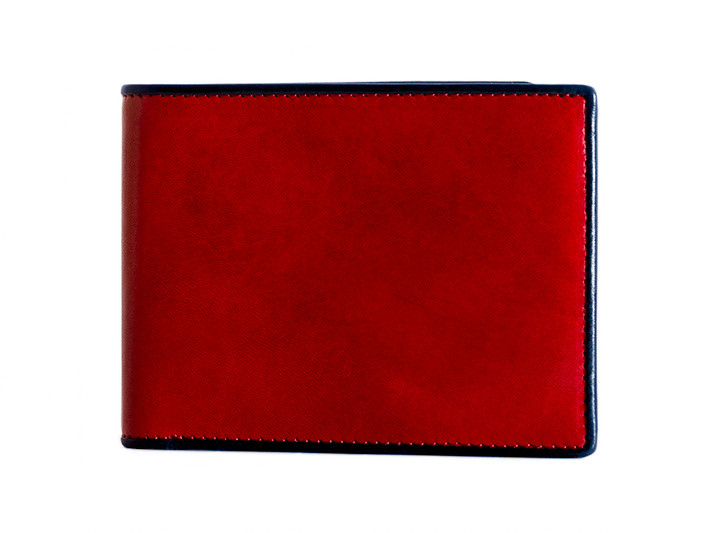 8 Pocket Wallet-143 Red/Navy