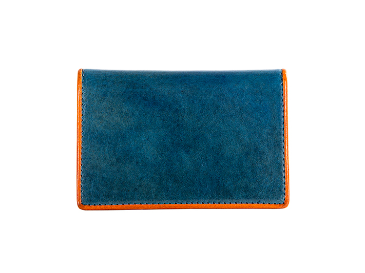 Calling Card Case-145 Turquoise/Orange