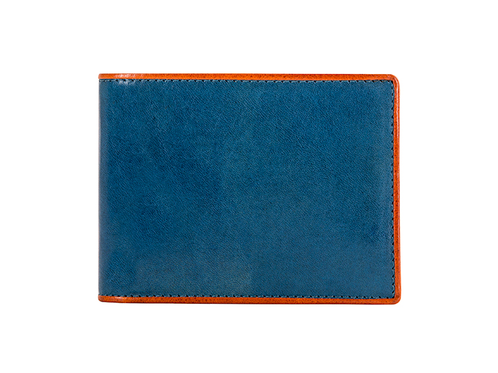 8 Pocket Deluxe Executive Wallet-145 Turquoise/Orange