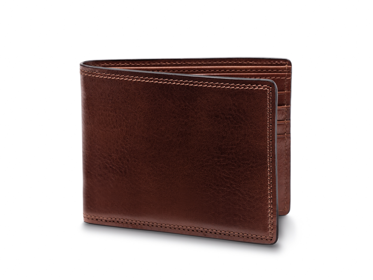 8 Pocket Deluxe Executive Wallet-218 Dark Brown - 218 Dark Brown