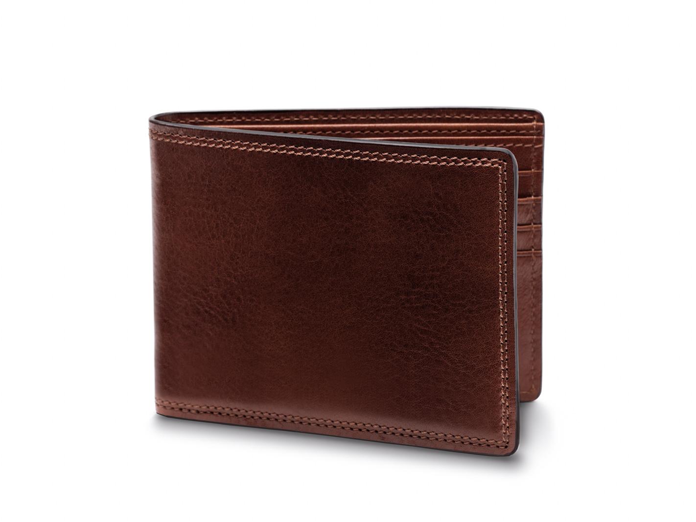 8 Pocket Deluxe Executive Wallet-218 Dark Brown - 218 Dark Brown