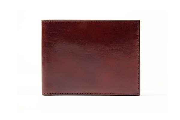 8 Pocket Wallet - Dark Brown - Closed Corner