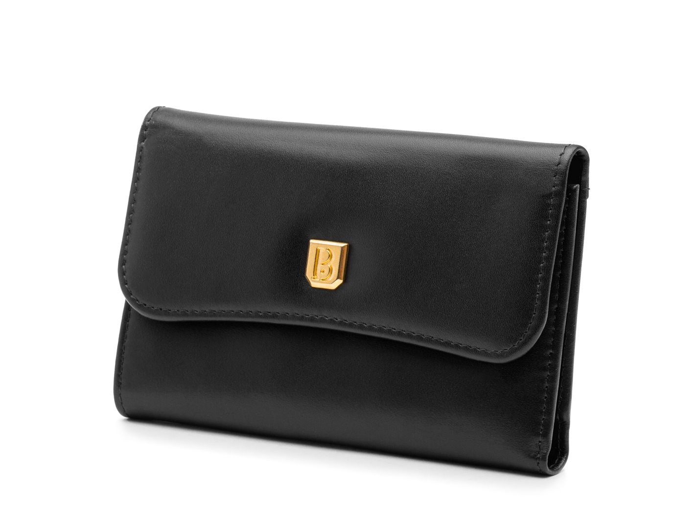 Soft Black ID French Purse