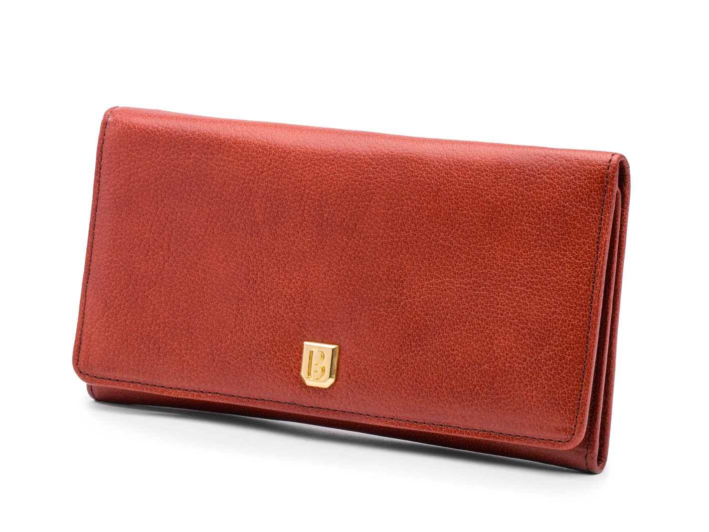 Saddle Brown 8 Pocket Vertical Wallet