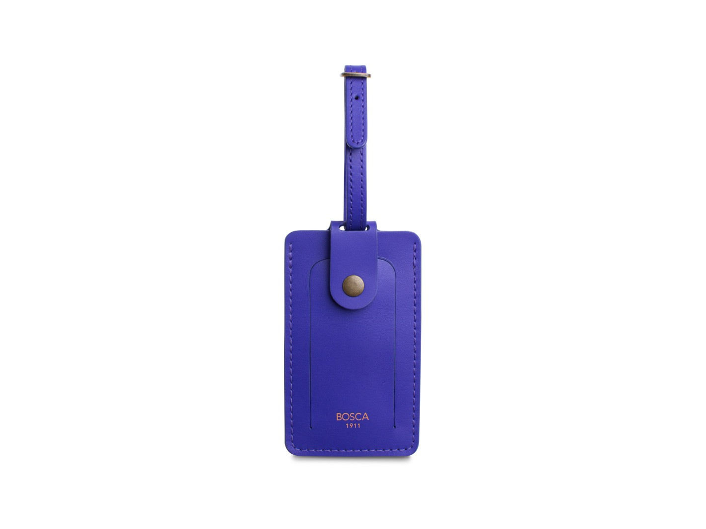 luggage tag purple