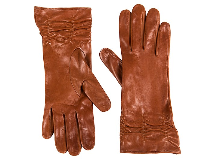 Long Lambskin Glove w/ Pleat