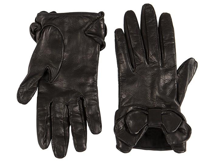 Short Lambskin Glove w/ Bow