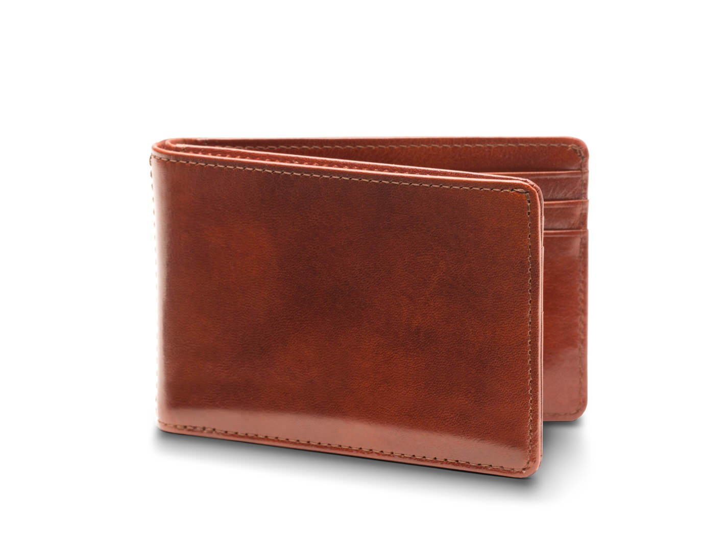 small leather bifold wallet for men