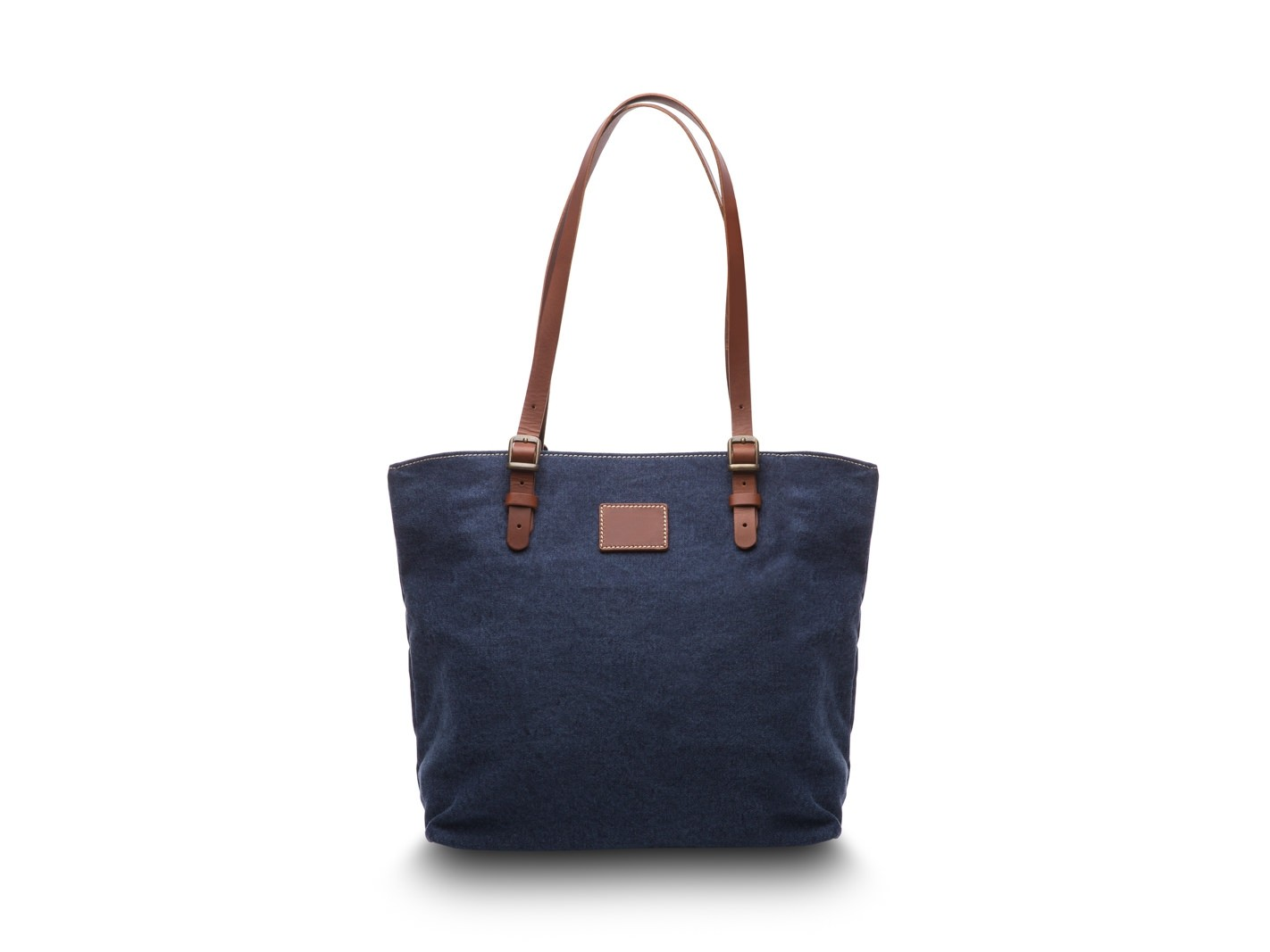 Tuscan Tote Bag w/ Monogram Patch
