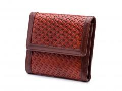 Bosca Basket Style Small Wallet 1193-214 214 Dark Auburn