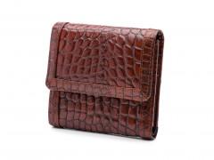 Bosca Crocco Small Wallet 1193-215 215 Dark Auburn