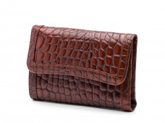 Bosca Crocco French Purse 1230-215 215 Dark Auburn