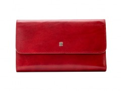 Large Checkbook Clutch-24 Brick Red