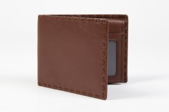 Credit Wallet with I.D. Passcase-176 Brown
