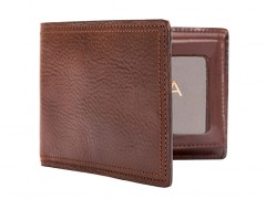 Credit Wallet w/I.D. Passcase-218 Dark Brown